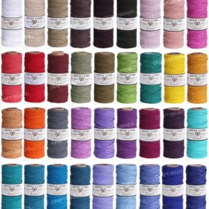 1MM Solid Polished Hemp Twine Hemptique Cord Macrame String Artisan Thread 20lbs – 205ft Spool | Shop jewelry making and beading supplies, tools & findings for DIY jewelry making and crafts. #jewelrymaking #diyjewelry #jewelrycrafts #jewelrysupplies #beading #affiliate #ad