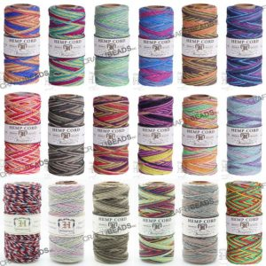 1MM Variegated Polished Hemp Twine Hemptique Cord Macrame String Artisan Thread 20lbs – 205ft Spool | Shop jewelry making and beading supplies, tools & findings for DIY jewelry making and crafts. #jewelrymaking #diyjewelry #jewelrycrafts #jewelrysupplies #beading #affiliate #ad