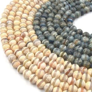 Shop Agate Faceted Beads! Tibetan Agate Beads | Dzi Beads | Dyed Faceted Striped Round Gemstone Beads -10mm Available – 2 Colors | Natural genuine faceted Agate beads for beading and jewelry making.  #jewelry #beads #beadedjewelry #diyjewelry #jewelrymaking #beadstore #beading #affiliate #ad