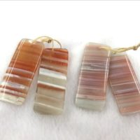 Natural Red Banded Agate Rectangle 18x40mm / 20x50mm Gemstone Genuine Pendant —1 Pair (2pcs) | Natural genuine Gemstone jewelry. Buy crystal jewelry, handmade handcrafted artisan jewelry for women.  Unique handmade gift ideas. #jewelry #beadedjewelry #beadedjewelry #gift #shopping #handmadejewelry #fashion #style #product #jewelry #affiliate #ad