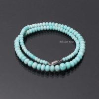 Aaa++ Quality Amazonite Beaded Necklace, 6-11mm Amazonite Smooth Rondelle Beads Necklace, peruvian Amazonite Rondelle Christmas Gift Necklace   Natural genuine Gemstone jewelry. Buy crystal jewelry, handmade handcrafted artisan jewelry for women.  Unique handmade gift ideas. #jewelry #beadedjewelry #beadedjewelry #gift #shopping #handmadejewelry #fashion #style #product #jewelry #affiliate #ad