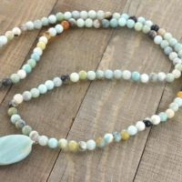 Amazonite Long Necklace, Light Blue Briolette Bead Gemstones, Silver Jewelry, 28 Inches Long, Birthday Gifts | Natural genuine Gemstone jewelry. Buy crystal jewelry, handmade handcrafted artisan jewelry for women.  Unique handmade gift ideas. #jewelry #beadedjewelry #beadedjewelry #gift #shopping #handmadejewelry #fashion #style #product #jewelry #affiliate #ad