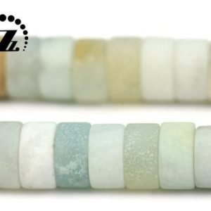 "Shop Amazonite Bead Shapes! Multicolor Amazonite, Matte Heishi spacer bead,Mixed color Amazonite, Natural,Gemstone,DIY beads, 2x4mm 3x6mm for Choice,15"" full strand 