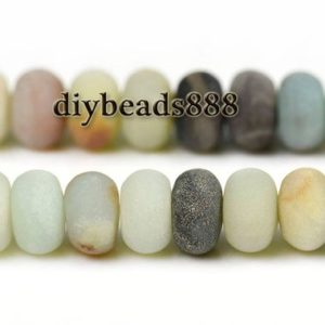 Shop Amazonite Rondelle Beads! 15 inch full strand Amazonite matte rondelle spacer beads,roundel bead,abacus bead,wheel bead,frosted beads 5x8mm 6x10mm 8x12mm for Choice | Natural genuine rondelle Amazonite beads for beading and jewelry making.  #jewelry #beads #beadedjewelry #diyjewelry #jewelrymaking #beadstore #beading #affiliate #ad