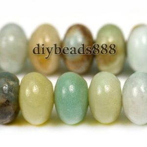 Shop Amazonite Rondelle Beads! 15 inch strand of Amazonite smooth rondelle beads 5x8mm 6x10mm 8x12mm for Choice | Natural genuine rondelle Amazonite beads for beading and jewelry making.  #jewelry #beads #beadedjewelry #diyjewelry #jewelrymaking #beadstore #beading #affiliate #ad
