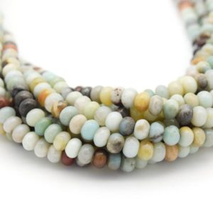 Amazonite Beads – Smooth Rondelle Natural Gemstone Beads – 6mm 8mm 10mm 12mm 14mm 16mm Available | Natural genuine rondelle Amazonite beads for beading and jewelry making.  #jewelry #beads #beadedjewelry #diyjewelry #jewelrymaking #beadstore #beading #affiliate #ad