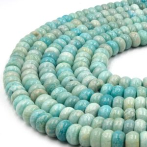 """Shop Amazonite Rondelle Beads! Large Hole Amazonite Beads 