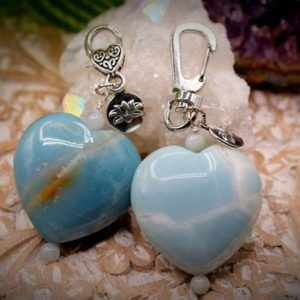 Shop Amazonite Shapes! 40mm Amazonite Heart 6mm Burmese Jadeite Lotus Charm Keychain Baby Diaperbag Postpartum Depression Healing Abundance Love Good Luck | Natural genuine stones & crystals in various shapes & sizes. Buy raw cut, tumbled, or polished gemstones for making jewelry or crystal healing energy vibration raising reiki stones. #crystals #gemstones #crystalhealing #crystalsandgemstones #energyhealing #affiliate #ad
