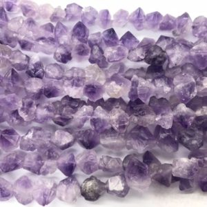 Shop Amethyst Chip & Nugget Beads! Natural Light Amethyst  10-14mm Raw Nuggets Genuine Loose Mauve Quartz Freeshape Beads 15 inch Jewelry Supply Bracelet Necklace Material | Natural genuine chip Amethyst beads for beading and jewelry making.  #jewelry #beads #beadedjewelry #diyjewelry #jewelrymaking #beadstore #beading #affiliate #ad