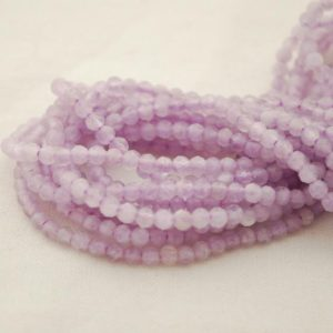 """Shop Amethyst Faceted Beads! High Quality Grade A Natural Lavender Amethyst Semi-precious Gemstone Round Beads – FACETED – 4mm – Approx 15.5"""" strand 