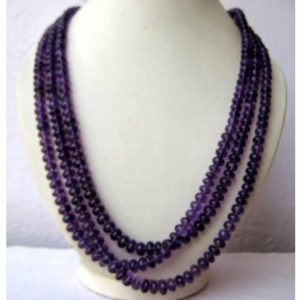 Shop Amethyst Rondelle Beads! AAAgems, Amethyst Rondelles  – 5mm To 8.5mm Beads – 3 Strands – 16 Inches, 17 Inches, 18 Inches Respectively   Natural genuine rondelle Amethyst beads for beading and jewelry making.  #jewelry #beads #beadedjewelry #diyjewelry #jewelrymaking #beadstore #beading #affiliate #ad