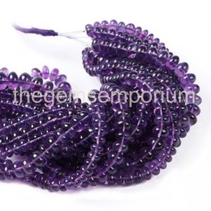 Shop Amethyst Rondelle Beads! African Amethyst Smooth Rondelle Beads, Amethyst Plain Beads, Amethyst Smooth Beads, Amethyst Rondelle Beads, African Amethyst Beads | Natural genuine rondelle Amethyst beads for beading and jewelry making.  #jewelry #beads #beadedjewelry #diyjewelry #jewelrymaking #beadstore #beading #affiliate #ad