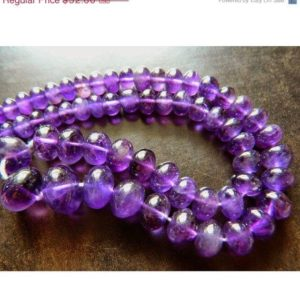 Shop Amethyst Rondelle Beads! Amethyst Beads, Aaa Gems, African Amethyst Rondelles, 6mm To 15mm Beads, 55 Pieces Approx, 13 Inch Strand | Natural genuine rondelle Amethyst beads for beading and jewelry making.  #jewelry #beads #beadedjewelry #diyjewelry #jewelrymaking #beadstore #beading #affiliate #ad