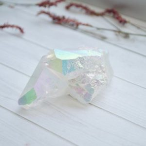 Angel Aura Quartz Cluster // Quartz Crystal // Quartz Cluster // Metaphysical Crystal // Village Silversmith | Natural genuine stones & crystals in various shapes & sizes. Buy raw cut, tumbled, or polished gemstones for making jewelry or crystal healing energy vibration raising reiki stones. #crystals #gemstones #crystalhealing #crystalsandgemstones #energyhealing #affiliate #ad
