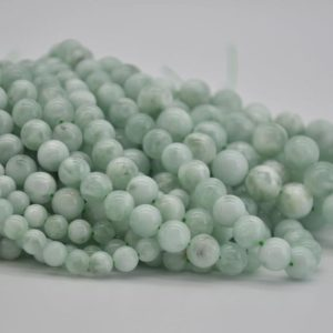 """Shop Angelite Beads! High Quality Grade A Green Angelite Semi-precious Gemstone Round Beads – 4mm, 6mm, 8mm, 10mm Sizes – Approx 15.5"""" Strand 