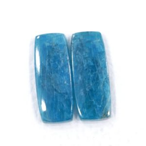 Shop Apatite Cabochons! Finest Quality Pair Of Earring Of Blue Apatite Gemstone 10*24 Mm Cushion Shape Apatite 23.20 Cts Flat Back Cabochon Blue Brazilian Apatite   Natural genuine stones & crystals in various shapes & sizes. Buy raw cut, tumbled, or polished gemstones for making jewelry or crystal healing energy vibration raising reiki stones. #crystals #gemstones #crystalhealing #crystalsandgemstones #energyhealing #affiliate #ad