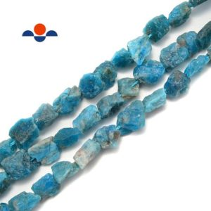 """Shop Apatite Chip & Nugget Beads! Apatite Rough Nugget Chunks Side Drill Beads Approx 8x12mm 15.5"""" Strand   Natural genuine chip Apatite beads for beading and jewelry making.  #jewelry #beads #beadedjewelry #diyjewelry #jewelrymaking #beadstore #beading #affiliate #ad"""