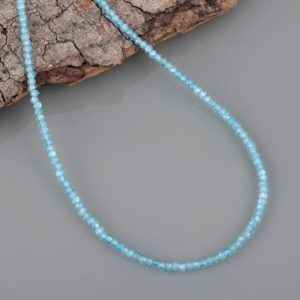 Shop Apatite Necklaces! Natural Neon Apatite Gemstone Beaded Necklace, Aaa+ Faceted Rondelle Jewelry Handmade Beads Necklace Christmas, Birthday, Aniversary Gift | Natural genuine Apatite necklaces. Buy crystal jewelry, handmade handcrafted artisan jewelry for women.  Unique handmade gift ideas. #jewelry #beadednecklaces #beadedjewelry #gift #shopping #handmadejewelry #fashion #style #product #necklaces #affiliate #ad