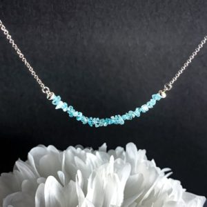 Shop Apatite Necklaces! Sterling Apatite Necklace Healing Crystals Silver Jewelry Stone Necklace, Raw Apatite, Motivation Gifts, Apatite Crystal, Gift for Women | Natural genuine Apatite necklaces. Buy crystal jewelry, handmade handcrafted artisan jewelry for women.  Unique handmade gift ideas. #jewelry #beadednecklaces #beadedjewelry #gift #shopping #handmadejewelry #fashion #style #product #necklaces #affiliate #ad
