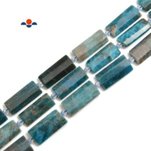 Apatite Flat Rectangle Cylinder Tube Beads Size 14x28mm 15.5'' Strand | Natural genuine other-shape Gemstone beads for beading and jewelry making.  #jewelry #beads #beadedjewelry #diyjewelry #jewelrymaking #beadstore #beading #affiliate #ad