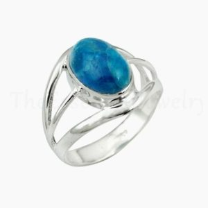 Shop Apatite Rings! Blue Apatite Ring, Handmade Ring, Oval Gemstone, Silver Band Ring, 925 Sterling Silver, Christmas Sale, Cabochon Gemstone, Silver Gift Ring   Natural genuine Apatite rings, simple unique handcrafted gemstone rings. #rings #jewelry #shopping #gift #handmade #fashion #style #affiliate #ad