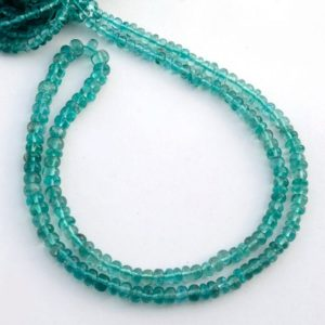 Shop Apatite Rondelle Beads! Blue Apatite Color Smooth Rondelle Beads, 4mm to 5.5mm Blue Apatite Loose Gemstone Beads, Sold As 18 Inch Strand, GDS2090   Natural genuine rondelle Apatite beads for beading and jewelry making.  #jewelry #beads #beadedjewelry #diyjewelry #jewelrymaking #beadstore #beading #affiliate #ad