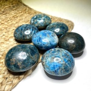 Shop Apatite Shapes! Blue Apatite Palm Stone | Natural genuine stones & crystals in various shapes & sizes. Buy raw cut, tumbled, or polished gemstones for making jewelry or crystal healing energy vibration raising reiki stones. #crystals #gemstones #crystalhealing #crystalsandgemstones #energyhealing #affiliate #ad