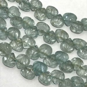 Natural Aquamarine Carved Hearts 7 to 10 mm 8 Inches/Natural Aquamarine/Carved Hearts/Loose beads strand/Stone beads/Gemstone Beads/Beads .. | Natural genuine other-shape Gemstone beads for beading and jewelry making.  #jewelry #beads #beadedjewelry #diyjewelry #jewelrymaking #beadstore #beading #affiliate #ad