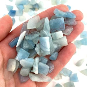 Shop Tumbled Aquamarine Crystals & Pocket Stones! 20g Of Tumbled Aquamarine, Mini Tumbled Stones, Tumbled Crystal, Tumbled Aquamarine, Blue Aquamarine | Natural genuine stones & crystals in various shapes & sizes. Buy raw cut, tumbled, or polished gemstones for making jewelry or crystal healing energy vibration raising reiki stones. #crystals #gemstones #crystalhealing #crystalsandgemstones #energyhealing #affiliate #ad