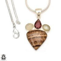 Aragonite Pendant 4mm Italian Snake Chain P7080 | Natural genuine Gemstone jewelry. Buy crystal jewelry, handmade handcrafted artisan jewelry for women.  Unique handmade gift ideas. #jewelry #beadedjewelry #beadedjewelry #gift #shopping #handmadejewelry #fashion #style #product #jewelry #affiliate #ad