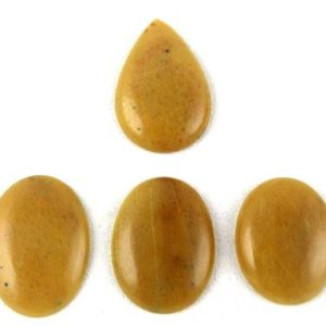 Shop Aventurine Cabochons! 4 Pcs Natural Yellow Aventurine Oval, pear Shape Smooth Cabochon, natural Aventurine Cabochon, aventurine Pear, aventurine Oval, aventurine Cabs | Natural genuine stones & crystals in various shapes & sizes. Buy raw cut, tumbled, or polished gemstones for making jewelry or crystal healing energy vibration raising reiki stones. #crystals #gemstones #crystalhealing #crystalsandgemstones #energyhealing #affiliate #ad