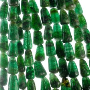 Shop Aventurine Chip & Nugget Beads! 9×5-12x7mm Green Moss Aventurine Gemstone Green Teardrop Nugget Loose Beads 14 inch Full Strand (90185163-892) | Natural genuine chip Aventurine beads for beading and jewelry making.  #jewelry #beads #beadedjewelry #diyjewelry #jewelrymaking #beadstore #beading #affiliate #ad