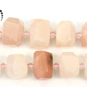 """Shop Aventurine Chip & Nugget Beads! Pink Aventurine faceted nugget beads,irregular bead,freedom bead,centre drilled bead,natural,gemstone,diy beads,11-13x16mm,15"""" full strand 