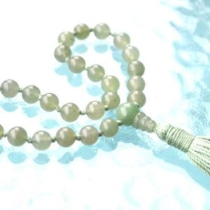 Shop Aventurine Necklaces! Heart Chakra 27+1 Green Aventurine Quarter Mala Bead,Mini Mala Beads, Unconditional love Understanding Openness Balance Forgiveness Trust | Natural genuine Aventurine necklaces. Buy crystal jewelry, handmade handcrafted artisan jewelry for women.  Unique handmade gift ideas. #jewelry #beadednecklaces #beadedjewelry #gift #shopping #handmadejewelry #fashion #style #product #necklaces #affiliate #ad