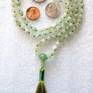 Heart Chakra Green Aventurine Knotted Necklace Aventurine Mala 108 Beads chakra healing crystals Unconditional love Understanding Openness | Natural genuine Gemstone necklaces. Buy crystal jewelry, handmade handcrafted artisan jewelry for women.  Unique handmade gift ideas. #jewelry #beadednecklaces #beadedjewelry #gift #shopping #handmadejewelry #fashion #style #product #necklaces #affiliate #ad