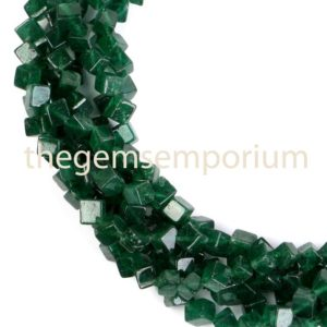 Shop Aventurine Bead Shapes! Green Aventurine Plain Cube Shape Gemstone Beads, Smooth Cube Gemstone Beads, Green Aventurine Gemstone Beads, AA quality | Natural genuine other-shape Aventurine beads for beading and jewelry making.  #jewelry #beads #beadedjewelry #diyjewelry #jewelrymaking #beadstore #beading #affiliate #ad