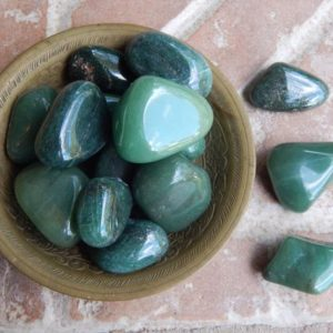 Shop Tumbled Aventurine Crystals & Pocket Stones! Tumbled Green Aventurine | Natural genuine stones & crystals in various shapes & sizes. Buy raw cut, tumbled, or polished gemstones for making jewelry or crystal healing energy vibration raising reiki stones. #crystals #gemstones #crystalhealing #crystalsandgemstones #energyhealing #affiliate #ad