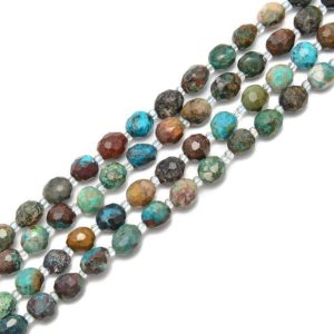 Shop Azurite Beads! Natural Azurite Fynchenite Faceted Nugget Beads Size 8-10mm 15.5'' Strand | Natural genuine beads Azurite beads for beading and jewelry making.  #jewelry #beads #beadedjewelry #diyjewelry #jewelrymaking #beadstore #beading #affiliate #ad