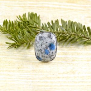 Shop Azurite Rings! Triple Spot K2 Stone Ring / / K2 Stone Jewelry / / Azurite Jewelry / / Sterling Silver / / Village Silversmith | Natural genuine Azurite rings, simple unique handcrafted gemstone rings. #rings #jewelry #shopping #gift #handmade #fashion #style #affiliate #ad