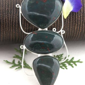 Shop Bloodstone Pendants! 3 Piece Pendant, sterling Silver Blood Stone Pendant, mix Shape, gifts For Women, necklace, pendant, silver Pendant, blood Stone, pendant, wholesale | Natural genuine Bloodstone pendants. Buy crystal jewelry, handmade handcrafted artisan jewelry for women.  Unique handmade gift ideas. #jewelry #beadedpendants #beadedjewelry #gift #shopping #handmadejewelry #fashion #style #product #pendants #affiliate #ad