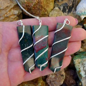 Shop Bloodstone Necklaces! Bloodstone Pendant Necklace, Large Silver Wrapped Bloodstone Necklace, Blood Stone Jewelry | Natural genuine Bloodstone necklaces. Buy crystal jewelry, handmade handcrafted artisan jewelry for women.  Unique handmade gift ideas. #jewelry #beadednecklaces #beadedjewelry #gift #shopping #handmadejewelry #fashion #style #product #necklaces #affiliate #ad