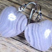 Blue Lace Agate Hearts, Healing Stone Earrings With Positive Healing Energy! | Natural genuine Gemstone jewelry. Buy crystal jewelry, handmade handcrafted artisan jewelry for women.  Unique handmade gift ideas. #jewelry #beadedjewelry #beadedjewelry #gift #shopping #handmadejewelry #fashion #style #product #jewelry #affiliate #ad