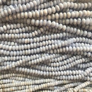 Shop Blue Lace Agate Rondelle Beads! blue lace agate 6mm 7mm 8mm 10mm roundell beads –15 inch blue lace agate gemstone Bead | Natural genuine rondelle Blue Lace Agate beads for beading and jewelry making.  #jewelry #beads #beadedjewelry #diyjewelry #jewelrymaking #beadstore #beading #affiliate #ad