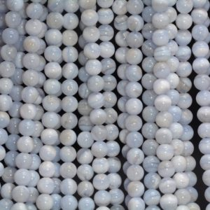 Shop Blue Lace Agate Round Beads! 6mm Blue Lace Agate Gemstone Round Loose Beads 15.5 inch Full Strand (90188820-81)   Natural genuine round Blue Lace Agate beads for beading and jewelry making.  #jewelry #beads #beadedjewelry #diyjewelry #jewelrymaking #beadstore #beading #affiliate #ad