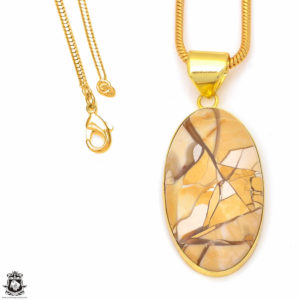 Shop Mookaite Jasper Pendants! Brecciated Mookaite 24K Gold Plated Pendant 3MM Italian Snake Chain GPH297 | Natural genuine Mookaite Jasper pendants. Buy crystal jewelry, handmade handcrafted artisan jewelry for women.  Unique handmade gift ideas. #jewelry #beadedpendants #beadedjewelry #gift #shopping #handmadejewelry #fashion #style #product #pendants #affiliate #ad