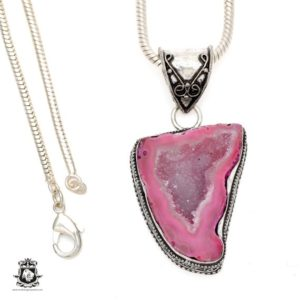 Shop Calcite Pendants! COBALTO CALCITE Druzy Drusy Pendant 4MM Italian Snake Chain V518   Natural genuine Calcite pendants. Buy crystal jewelry, handmade handcrafted artisan jewelry for women.  Unique handmade gift ideas. #jewelry #beadedpendants #beadedjewelry #gift #shopping #handmadejewelry #fashion #style #product #pendants #affiliate #ad