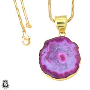 Shop Calcite Pendants! Cobalto Calcite Geode 24K Gold Plated Pendant 3MM Italian Snake Chain GPH1185   Natural genuine Calcite pendants. Buy crystal jewelry, handmade handcrafted artisan jewelry for women.  Unique handmade gift ideas. #jewelry #beadedpendants #beadedjewelry #gift #shopping #handmadejewelry #fashion #style #product #pendants #affiliate #ad