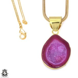 Shop Calcite Pendants! Cobalto Calcite Geode 24K Gold Plated Pendant 3MM Italian Snake Chain GPH1186   Natural genuine Calcite pendants. Buy crystal jewelry, handmade handcrafted artisan jewelry for women.  Unique handmade gift ideas. #jewelry #beadedpendants #beadedjewelry #gift #shopping #handmadejewelry #fashion #style #product #pendants #affiliate #ad