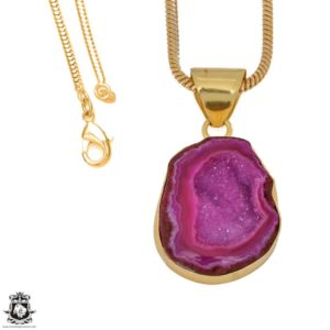 Shop Calcite Pendants! Cobalto Calcite Geode 24K Gold Plated Pendant 3MM Italian Snake Chain GPH1181   Natural genuine Calcite pendants. Buy crystal jewelry, handmade handcrafted artisan jewelry for women.  Unique handmade gift ideas. #jewelry #beadedpendants #beadedjewelry #gift #shopping #handmadejewelry #fashion #style #product #pendants #affiliate #ad