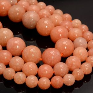 Orange Peach Calcite Gemstone Grade Aaa Round 6mm 8mm 10mm 12mm Loose Beads 15.5 inch Full Strand BULK LOT 1,2,6,12 and 50 (A259) | Natural genuine beads Gemstone beads for beading and jewelry making.  #jewelry #beads #beadedjewelry #diyjewelry #jewelrymaking #beadstore #beading #affiliate #ad